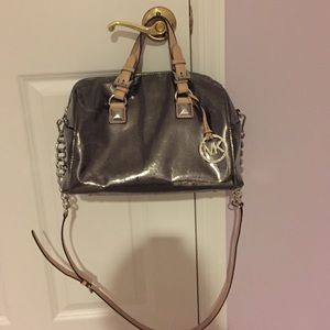 Michael Kors Metallic Gray bag