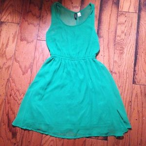 H&M bright green dress