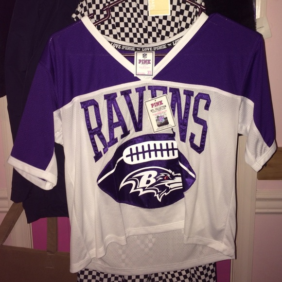 NWT VS PINK LIMITED EDITION RAVENS JERSEY 910e1a7f2