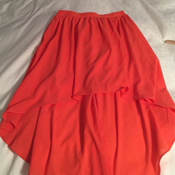 60 dresses skirts orange high low skirt from