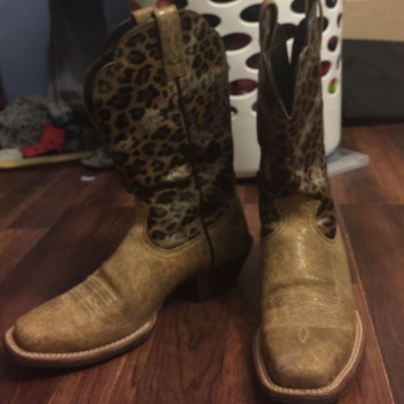 54% off Ariat Boots - Ariat cheetah print boots from Jazmin's ...