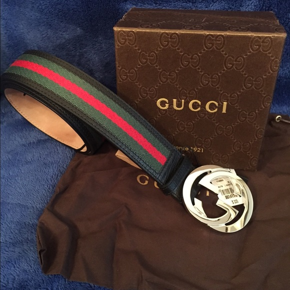 87176cfd4fc Authentic green red green Gucci men s belt 100cm