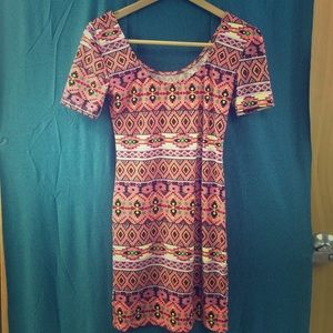 Available in coral not blue! Mini Aztecs dress