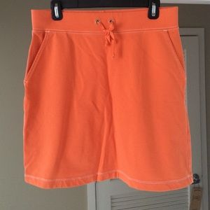Orange Lands End skirt!