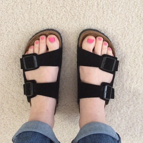 birkenstock arizona black leather 36