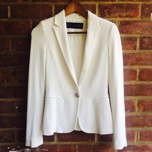 Zara basics white blazer