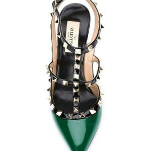 Valentino Shoes - Green and Black Authentic Rock Valentino 10US 40EU
