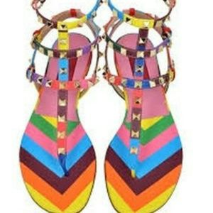 Valentino Shoes - Authentic Valentino Multicolored leather Sandals