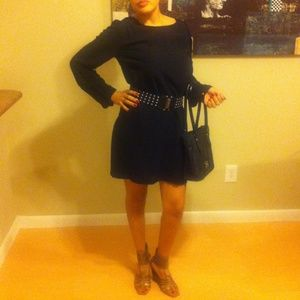 Twelfth Street by Cynthia Vincent Dresses & Skirts - Black Tunic Dress With Lace In Back.