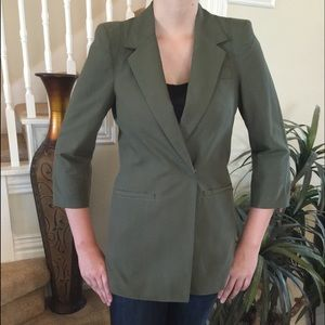 Elizabeth and James olive long jacket