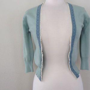 American Exchange Jackets & Blazers - 3/4 Length Sleeve Green Cardigan