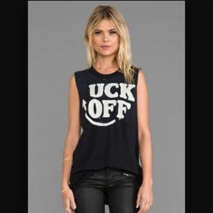 "UNIF ""UCK OFF"" graphic Muscle Tee Sz XS"