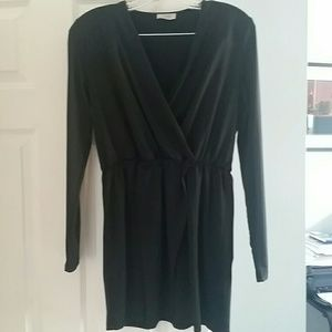 TOBI Black Sleeve Short Dress