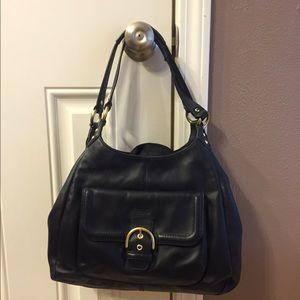 Coach Black genuine leather shoulder bag
