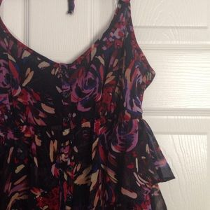 floral print BCBGeneration flounce dress