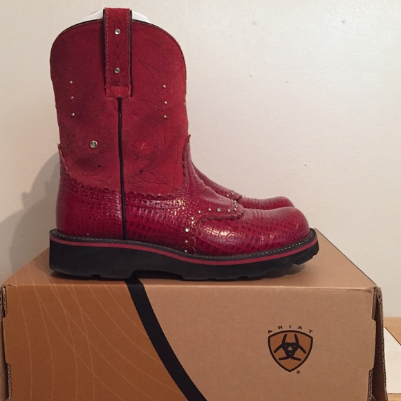 Ariat - ❌❌SOLD❌❌Ariat Red Gem Baby Gator Print Boots from ...