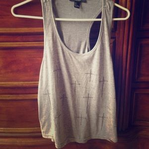 Forever 21 grey cross tank