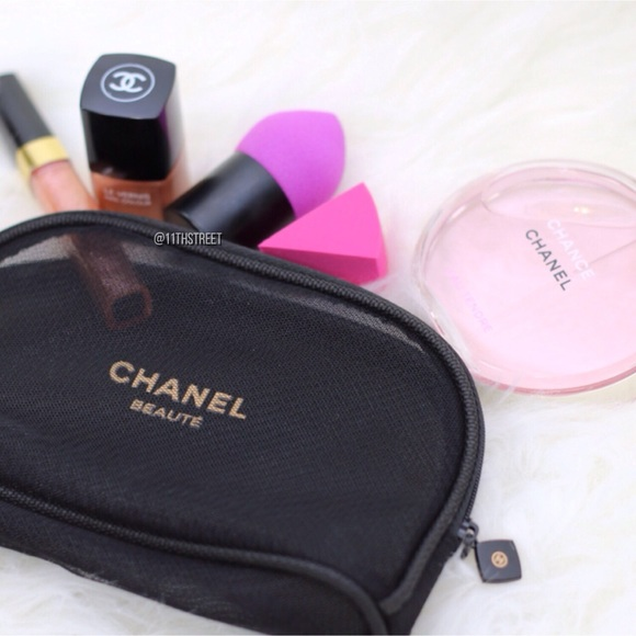 3d512a4b931bba CHANEL Accessories | Vip Mesh Makeup Pouch Bag | Poshmark