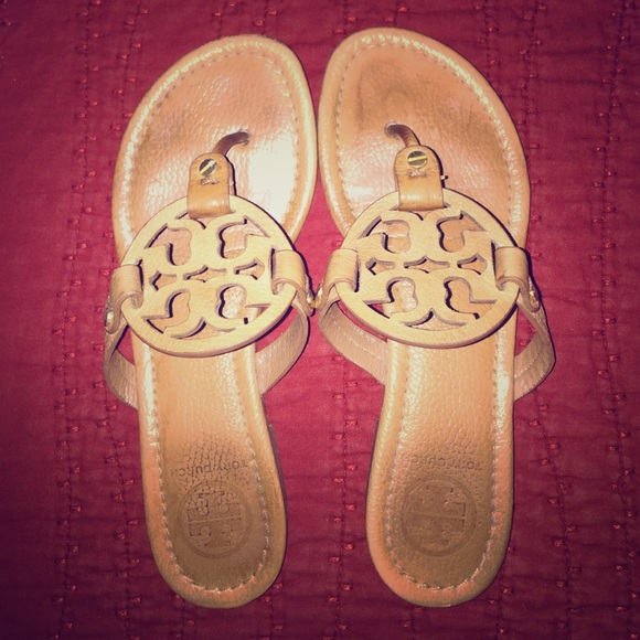 983d7e5c2b3473 Tory Burch Miller Royal Tan Tumbled Leather Size 6.  M 5578ee96c402ae1d27000962
