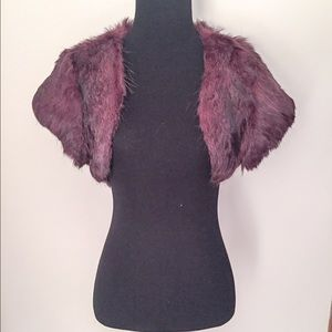 Arden B Jackets & Blazers - Arden B Rabbit Fur Shrug