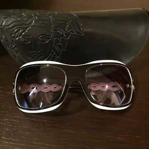 Versace black and white sunglasses