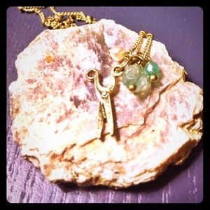 Crafty Gold Scissor Necklace
