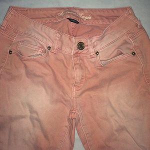 American eagle light pink skinny jeans