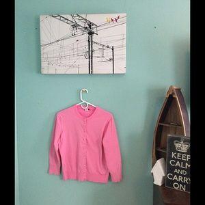 Pink J. Crew Cardigan