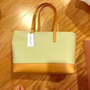 Mansur Gavriel Handbags - Mansur Gavriel small tote in canvas and leather