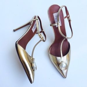 Valentino authentic gold pumps Sz 10 new