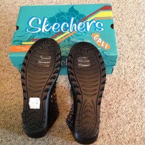 Sandalias De Cuña Paralelos Skechers Mujeres llJtSix