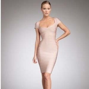 HERVE LEGER BANDAGE DRESS XS.