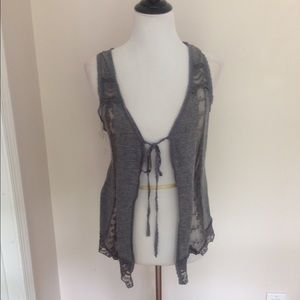 Gray lace cover up