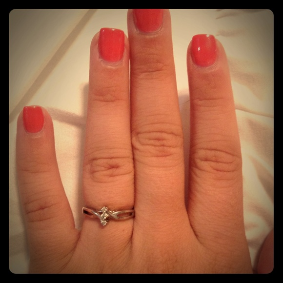 JCPenney Silver Diamond Promise Ring
