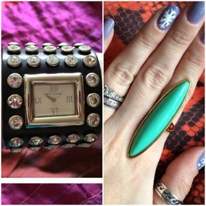 Jewelry - Bundle for Jegescukor - Betsey Johnson Watch/Ring