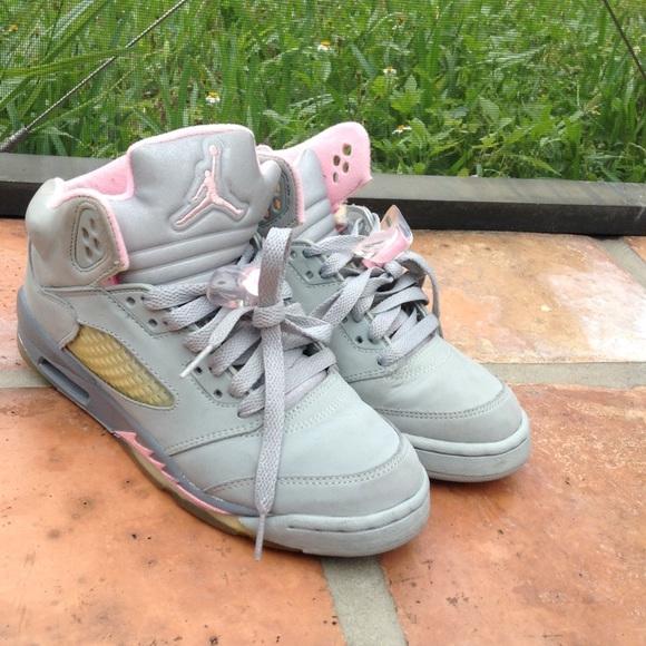 Retro grey and Pink girls Nike Air Jordan's size 6