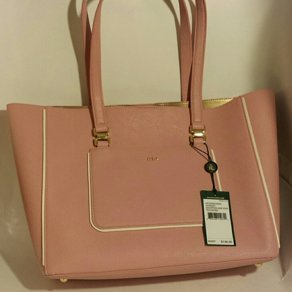 Ralph Lauren Bags   Dorset Shopper In Tea Rose   Poshmark 474c1b025a
