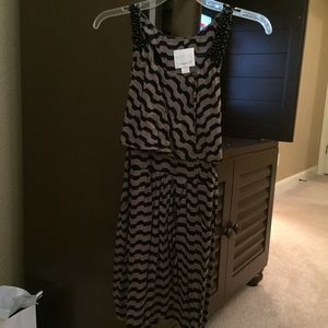 J. Crew Dresses & Skirts - Black and Gray chevron dress-size small