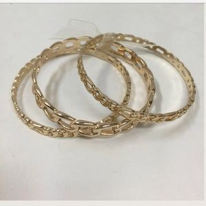 Jewelry - 🆕LISTING 3-Gold Link Bangles ❗️SALE❗️
