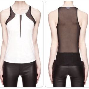 Helmut Lang Tops - 🆕Helmut Lang White and Black Mesh Vena Tank