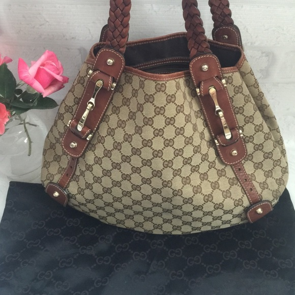 80% off Gucci Handbags - Gucci Pelham Hobo Bag with Braided Strap ...