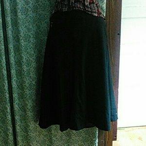 Black Knee Length Pencil Skirt