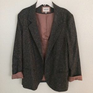 Tweed Blazer with Polka dot lining