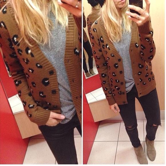 2d93f07ca520 Cherokee Sweaters - Target Leopard Cardigan (girls XL   women s ...