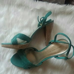 Christian Siriano Shoes - Brand new Aqua color high heels
