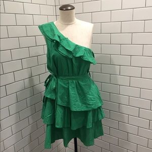 Pretty GREEN DRESS / SHIRT One Shoulder  By Ya LG