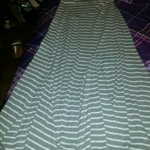 Dresses & Skirts - Gray & white striped maxi skirt