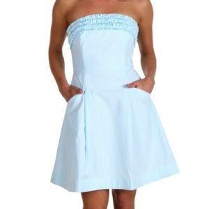 Lilly Pulitzer Ferra Seersucker dress shorely blue