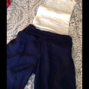 Navy blue wide leg pants