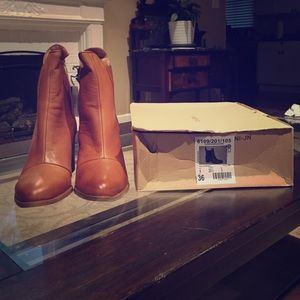 Zara Light Brown Ancho Boots